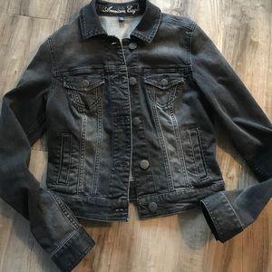 American Eagle Outfitters Black Denim Jacket Sz S